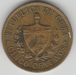 Moneda > 5centavos, 1943 - Cuba  - obverse