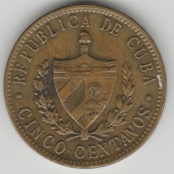 מטבע > 5סנטאבו, 1943 - קובה  - reverse