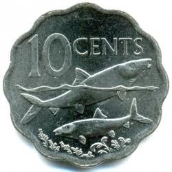 硬币  /> 10分, 2007-2016 - 巴哈马 - reverse