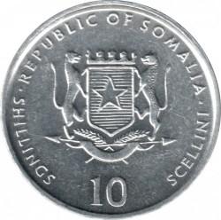 Монета > 10шиллингов, 1999-2002 - Сомали  - obverse