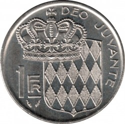 Moneta > 1frankas, 1960-1995 - Monakas  - reverse