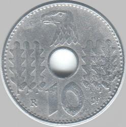 Pièce > 10reichspfennig, 1940-1941 - Allemagne - Troisième Reich  - reverse
