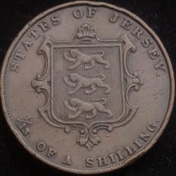 Moeda > 1/13shilling, 1841-1861 - Jersey  - obverse