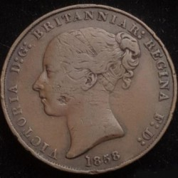 Coin > 1/13shilling, 1841-1861 - Jersey  - reverse