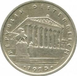 Moneda > 1chelín, 1925-1932 - Austria  - reverse
