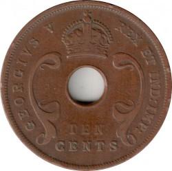 Moneta > 10centesimi, 1921-1936 - Africa Orientale Britannica  - obverse