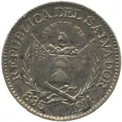 Munt > 5centavos, 1911 - El Salvador  - reverse