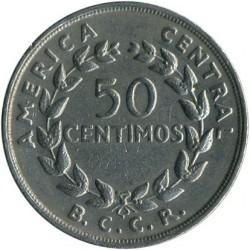 Монета > 50сентимів, 1968-1978 - Коста-Ріка  - reverse
