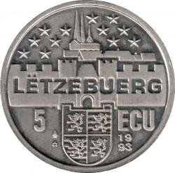 Монета > 5ECU, 1993 - Люксембург  (Жозеф Беш) - obverse