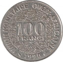 Moneda > 100francos, 1990 - África Occidental (BCEAO)  - reverse