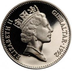 Coin > 2.8ECUs, 1992 - Gibraltar  (Knight) - obverse