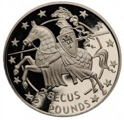 Coin > 2.8ECUs, 1992 - Gibraltar  (Knight) - reverse