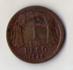 Münze > 1Peso, 1948 - Chile  - obverse