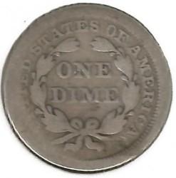 سکه > 1دایم, 1856-1860 - ایالات متحده آمریکا  (Seated Liberty Dime) - obverse