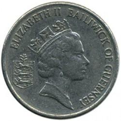 Coin > 5pence, 1990-1997 - Guernsey  - obverse