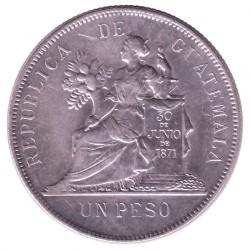 Munt > 1peso, 1894-1897 - Guatemala  - reverse