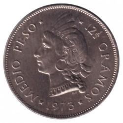 Minca > ½peso, 1973-1975 - Dominikánska republika  - reverse