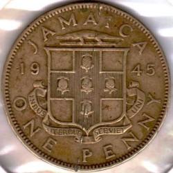 Монета > 1пени, 1938-1947 - Ямайка  - reverse