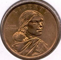 Coin > 1dollar, 2011 - USA  (Native American - Wampanoag Treaty) - obverse