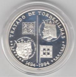 Moneta > 200scudi, 1994 - Portogallo  (500° anniversario - Trattato di Tordesillas ) - reverse