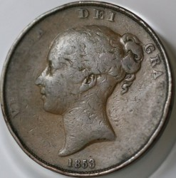Coin > 1penny, 1841-1859 - United Kingdom  - obverse