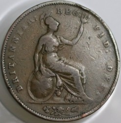 Coin > 1penny, 1841-1859 - United Kingdom  - reverse