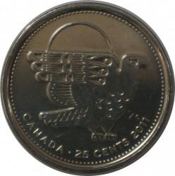 Монета > 25цента, 2011 - Канада  (Легендарна фауна - Сокол скитник) - reverse