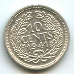 Кованица > 10центи, 1941-1943 - Курасао  - reverse