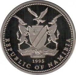 Moneta > 1dollaro, 1995 - Namibia  (Orice gazzella ) - obverse