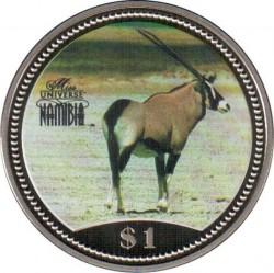 Moneta > 1dollaro, 1995 - Namibia  (Orice gazzella ) - reverse