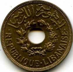 Moneta > 2½piastre, 1940 - Libano  - obverse