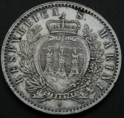 מטבע > 50ז'אנטזימו, 1898 - סן-מרינו  - reverse