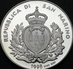 Moneta > 5000lire, 1998 - San Marino  (L'Europa del nuovo millennio) - obverse