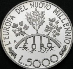 Moneta > 5000lire, 1998 - San Marino  (L'Europa del nuovo millennio) - reverse