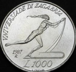 Moneta > 1000lire, 1987 - San Marino  (XIV Universiade estiva, Zagabria 1987) - reverse