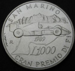 Moneta > 1000lire, 1989 - San Marino  (Gran Premio di San Marino) - obverse
