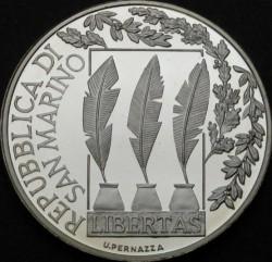 Moneda > 10euros, 2007 - San Marino  (100 aniversario - Muerte de Giosuè Carducci) - obverse
