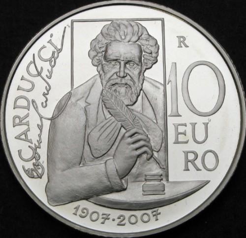 10 Euro 2007 Giosuè Carducci San Marino Münzen Wert Ucoinnet