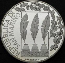 Moneda > 10euros, 2007 - San Marino  (100 aniversario - Muerte de Giosuè Carducci) - reverse