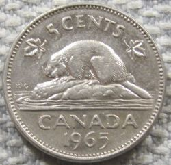 Mynt > 5 cents, 1965-1978 - Canada  - obverse