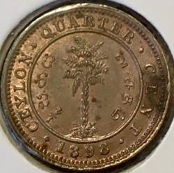Монета > ¼цента, 1870-1901 - Цейлон  - reverse