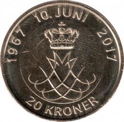 Moneta > 20corone, 2017 - Danimarca  (Nozze d'oro) - reverse