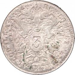 Monedă > 3сreițari, 1837-1848 - Austria  - reverse