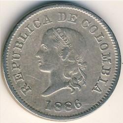 Moneda > 5centavos, 1886-1902 - Colòmbia  - obverse