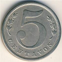 Moneda > 5centavos, 1886-1902 - Colòmbia  - reverse