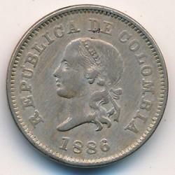 Monedă > 5centavo, 1886-1888 - Columbia  - reverse