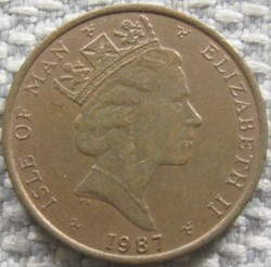 Moneda > 1 penique, 1985-1987 - Isla de Man  - reverse