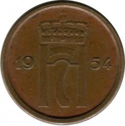 Moneta > 1erė, 1952-1957 - Norvegija  - obverse