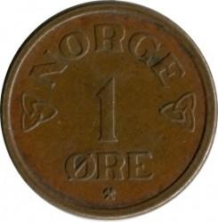 Moneta > 1erė, 1952-1957 - Norvegija  - reverse