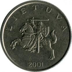 Монета > 1лит, 1998-2014 - Литва  - reverse